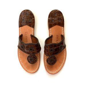 Jack Rogers Newport Croc Thong Sandals